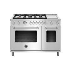 "48"" Master Series range - Gas Oven - 6 brass burners + griddle"
