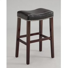 COUNTER HEIGHT STOOL W/BK PU