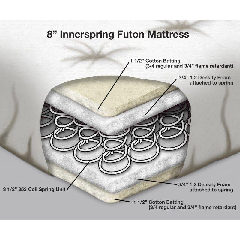 8 Inch Futon Mattress With Multi Layer Innerspring Core Black