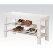 White Bench W/shoe Rack Product Image