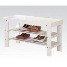 White Bench W/shoe Rack