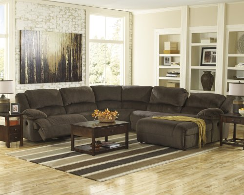 5-Piece Power Reclining Sectional with LAF Recliner