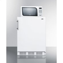 Compact Refrigerator-freezer-microwave Unit With Dual Evaporator Cooling