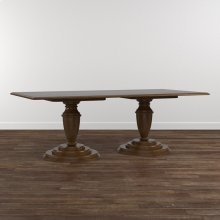 "Custom Dining 86"" Table w/Round Base"
