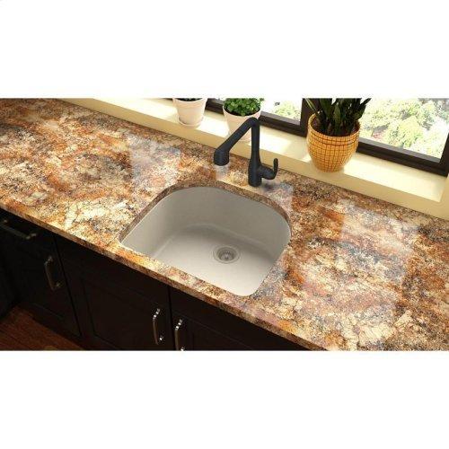 "Elkay Quartz Classic 25"" x 22"" x 8-1/2"", Single Bowl Undermount Sink, Bisque"