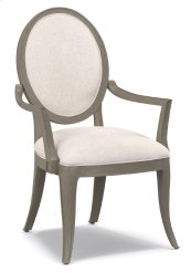 Dining Room Darling Upholstered Oval Back Arm Chair