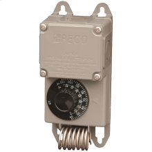 Line voltage controller 120v - 277v, NEMA 4X enclosure with remote temperature sensor.
