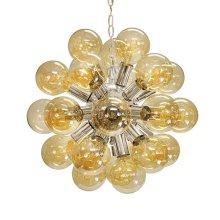 Glass Globe Chandelier In Nickel