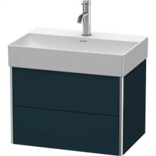Vanity Unit Wall-mounted Compact, Night Blue Satin Matt Lacquer