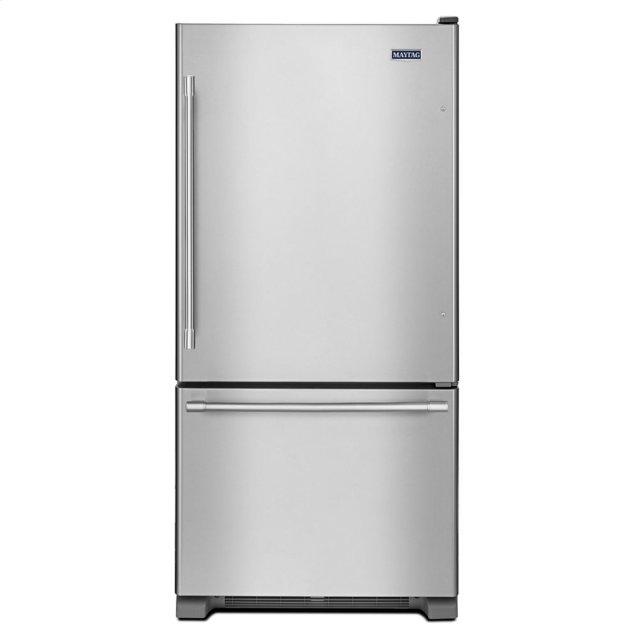 Maytag 30-Inch Wide Bottom Mount Refrigerator - 19 Cu. Ft.