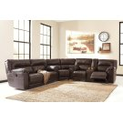Barrettsville - Chocolate 3 Piece Sectional Product Image