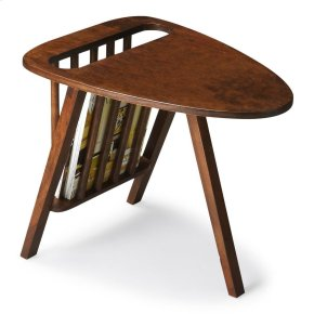 This sleek and stylish magazine table with is an elegant touch to virtually any modern space. Crafted from mango wood solids, it boasts a slightly aged brown provincial finish.