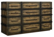 Bedroom Crafted Twelve-Drawer Dresser