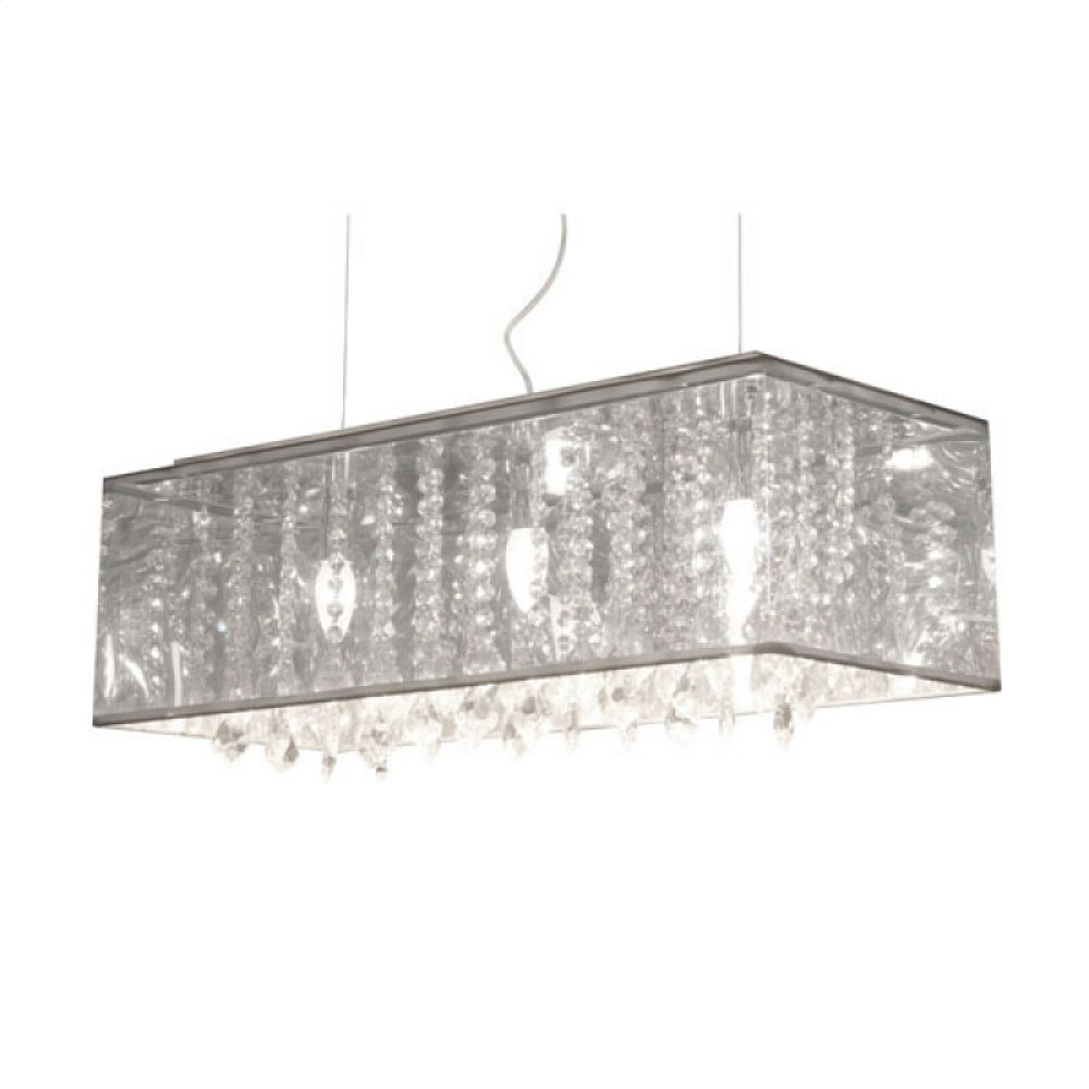 Blast Ceiling Lamp Clear Metallic