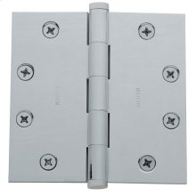 Satin Chrome Square Corner Hinge