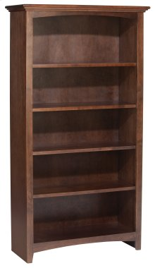 "CAF 60""H x 30""W McKenzie Alder Bookcase in Cafe Finish"