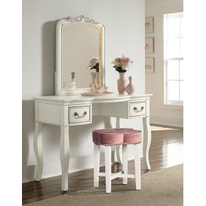Hillsdale FurnitureClover Vanity Stool - Blush