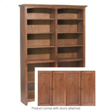 """GAC 72""""H x 48""""W McKenzie Alder Bookcase w/doors"""