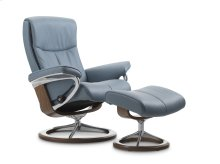 Stressless Peace Medium Signature Base Chair and Ottoman