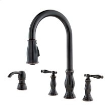 Tuscan Bronze 2-Handle Pull-Down Kitchen Faucet