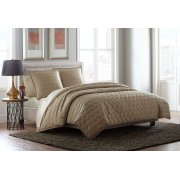 3 pc Queen Duvet Set Champagne Product Image