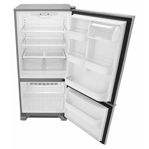 29-inch Wide Bottom-Freezer Refrigerator with Garden Fresh Crisper Bins -- 18 cu. ft. Capacity - Stainless Steel
