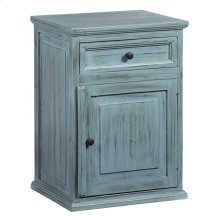Nightstand - Antique Turquoise Finish
