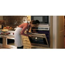 """SO30UP 30"""" Single Oven L Series - Platinum Stainless Unframed"""
