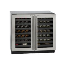 "Modular 3000 Series 36"" Wine Captain® Model With Stainless Frame (lock) Finish and Double Doors Door Swing (115 Volts / 60 Hz)"