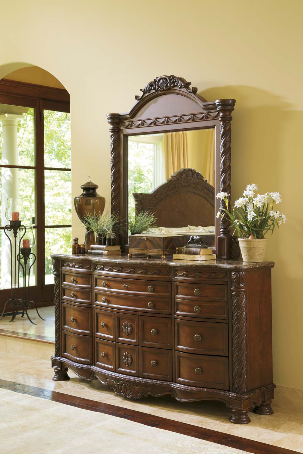 North Shore   Dark Brown 2 Piece Bedroom Set