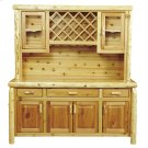 "Cedar 75"" Buffet & Hutch - with Wine Rack on Top Portion Product Image"