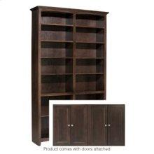 """CAF 84""""H x 48""""W McKenzie Alder Bookcase w/doors"""