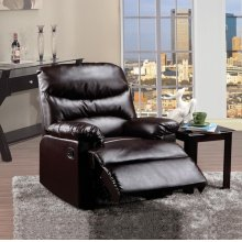 BROWN PU RECLINER