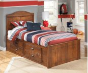 Barchan - Medium Brown 4 Piece Bed Set (Twin)