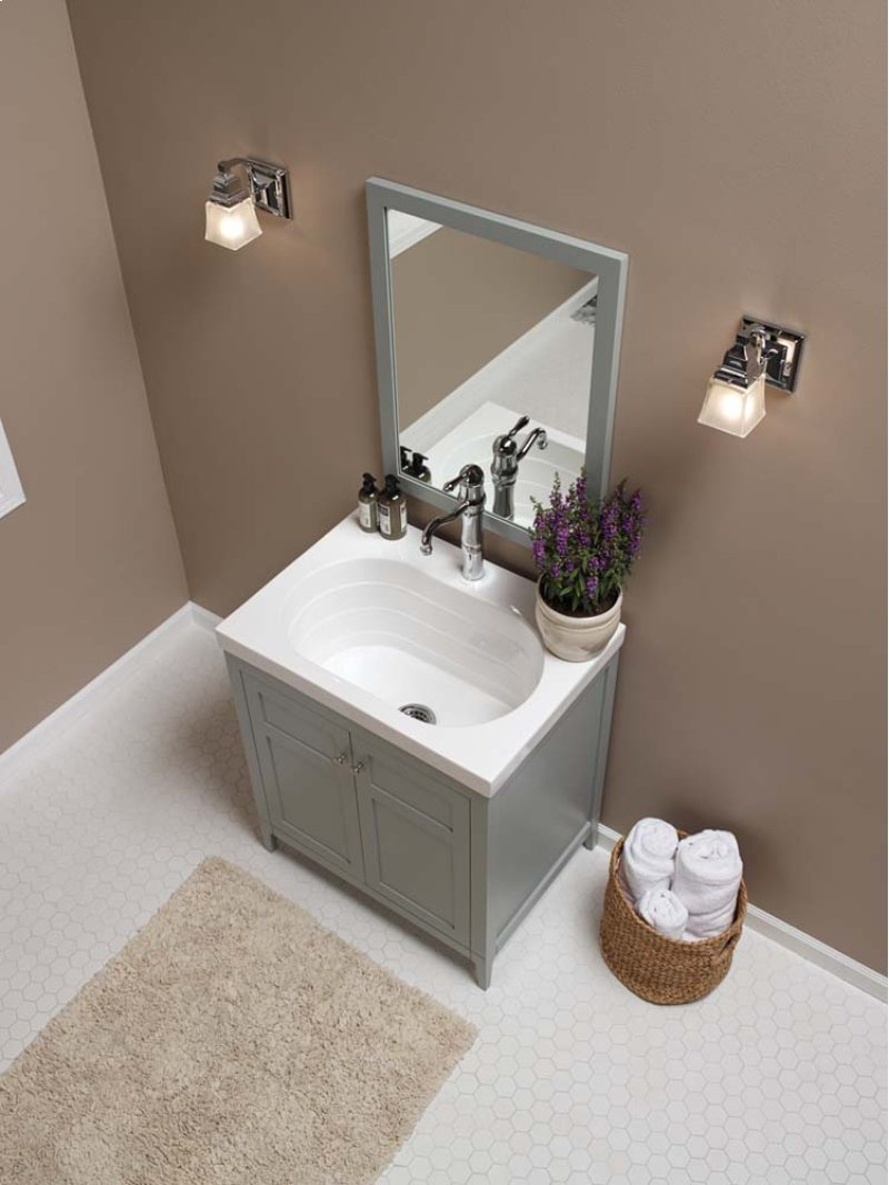 reviews stone com java lowes bathroom vanities shop tops morriston distressed at display sink for pl single engineered with undermount vanity top product
