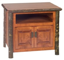 Hickory Television Stand - Rustic Alder