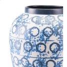 Ree Lg Vase Blue & White Product Image