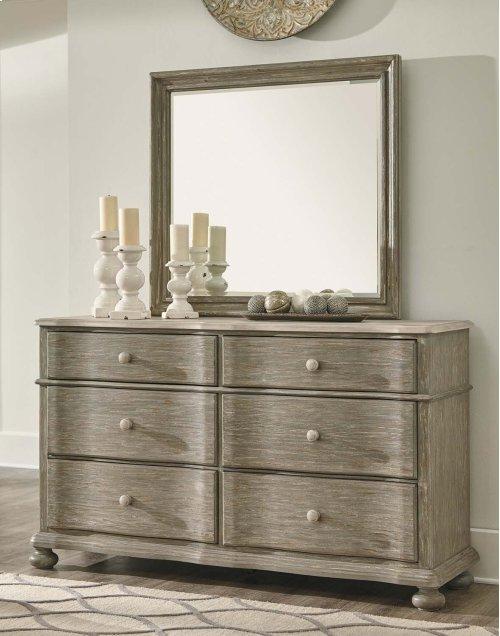 Marleny - Gray/Whitewash 2 Piece Bedroom Set