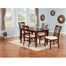Montego Bay 36x48 Dining Set in Walnut