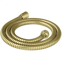 "Brushed Gold 60"" Metal Shower Hose"