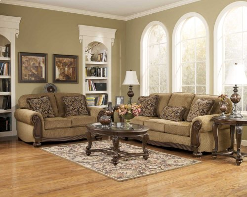 6850038  Sofa and Loveseat - Lynnwood Amber