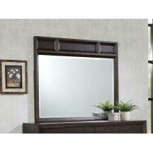 Bingham Retro-modern Brown Oak Mirror