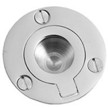 "Chrome Plate Flush ring, 1 1/2"" diameter"