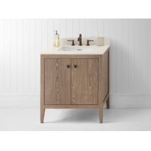 "Sophie 30"" Bathroom Vanity Cabinet Base in Aged Oak"