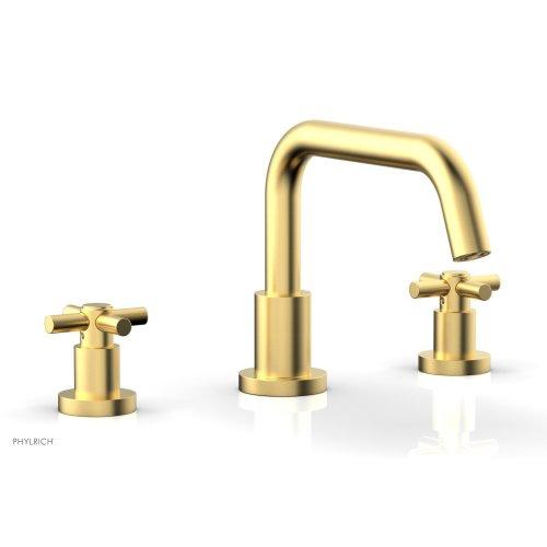 BASIC Deck Tub Set - Tubular Cross Handles D1136D - Burnished Gold
