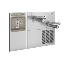 Elkay EZH2O Bottle Filling Station & SwirlFlo Bi-Level Fountain, High Efficiency Filtered 8 GPH Stainless
