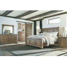 Florence Traditional Rustic Smoke Queen Bed