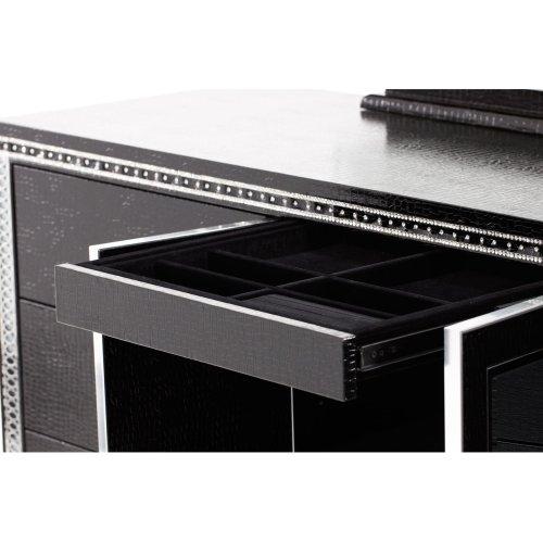 Upholstered Dresser Black Iguana