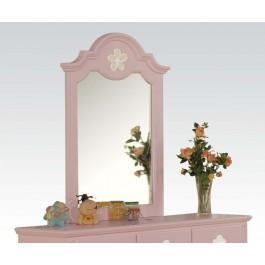 Pink W/wh Flower Mirror