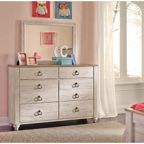 B267 Dresser & Mirror Set (Willowton)